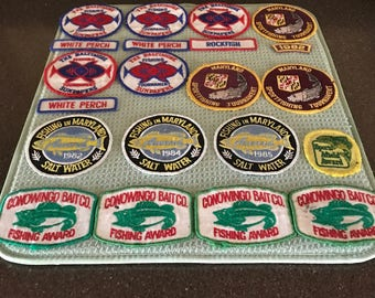 Vinatge Fishing Tournament Patches