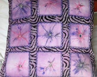 15 inch square cushion cover East African batik (from Zanzibar)
