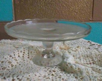 Jeanette Glass Harp Cake Stand.