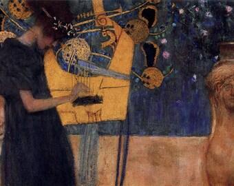 ORIGINAL design, durable and WASHABLE PLACEMAT - Gustav Klimt - music - classic.