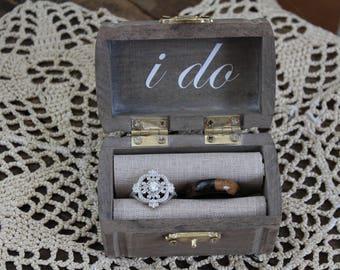 Ring Bearer Box/ Vintage Ring Bearer Box/ Custom Ring Bearer Box