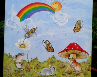 """""""My 3 little mice""""table for child's room"""