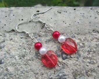 "Earrings romantic ""to my heart"" full of love"