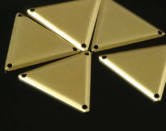 Set of 2 triangles gold connector