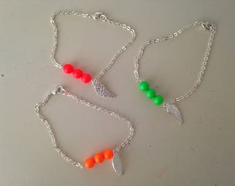 Bracelet with neon beads