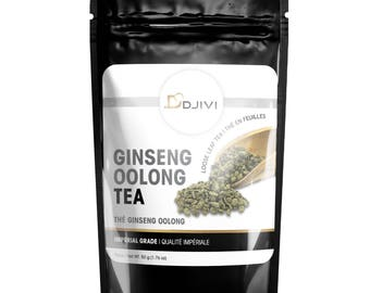 Ginseng Oolong Tea First Grade Oolong Loose Leave Tea 100% Natural Caffeine Medium Premium Specialty Tea Fujian Chinese Tea - 50g