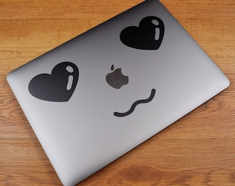 MAC in Love Decal Sticker for Macbooks and other Laptops | Laptop Macbook Skin | Loving Sweet Adorable Fond Enamored Crush Impassioned Cute
