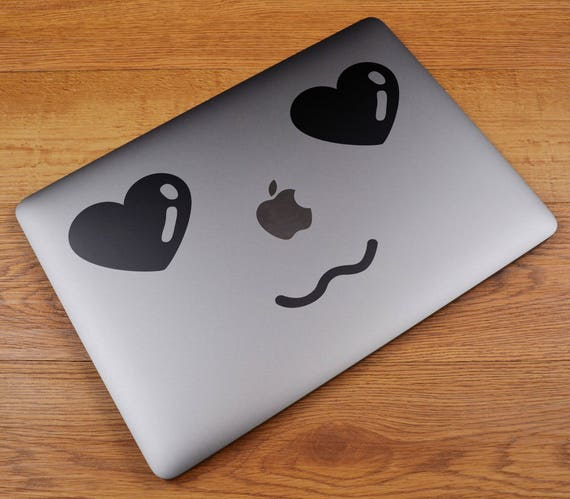 MAC in Love Decal Sticker for Macbooks and other Laptops, Laptop Macbook Skin, Loving Sweet Adorable Fond Enamored Crush Impassioned Cute