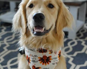 Gobble till you wobble reversible dog bandana!