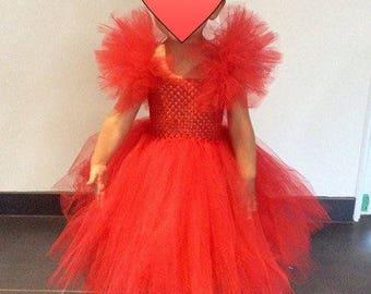 Spanish Red 2-3 year tutu dress