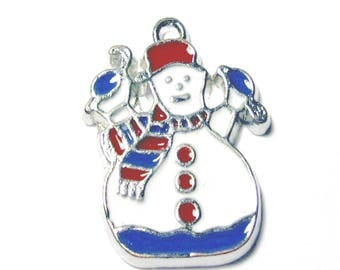 5 pieces Snowman Zinc Alloy Charm Pendants - A0532