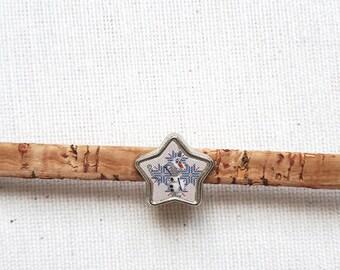 Cork natural star shape bracelet