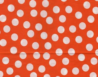 Cotton coupon orange dots 24 x 108 cm