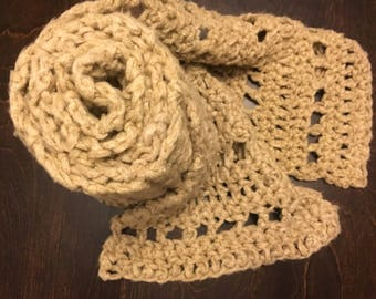 Extra Wide Camel Scarf - Extra Long Scarf - Bamboo Scarf - Crochet Scarf - Women's Scarf - Winter Scarf - Gift - Ready to Ship!