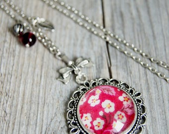 VINTAGE PINK RASPBERRY - SA014 LIBERTY NECKLACE