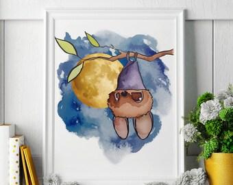 Bat - Bat Painting - Bat Art - Bat Painting - Bat Print - Bat Fine Art Print