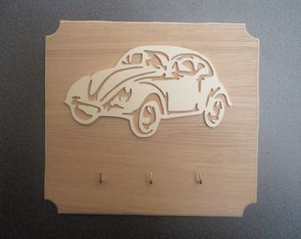 key hangs with a 2CV cut for decor