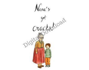 Nana's Got Cracks Bookmark - digital - illustrated - Kids Book Club