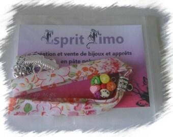 """Kit """"fabric bracelet and tart fruit"""" design"""