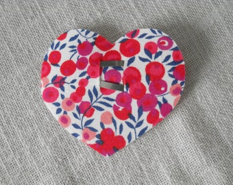 Heart hairclip liberty wiltshire Red