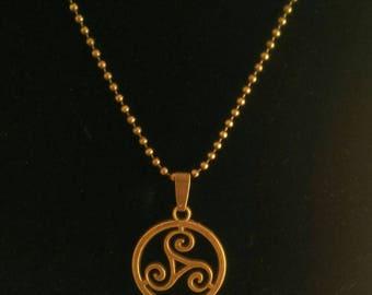 "The breton triskel ""bronze necklace and celtic"""