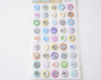 BOARD OF 45 STICKERS STICKERS FLOWERS PELLETS