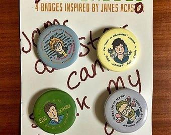 GOODE-badges: 4 badges inspired by James AcastOr
