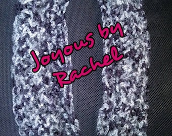 Black/Grey Infinity Scarf