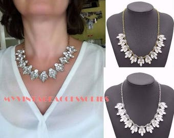 Vintage Necklace, Crystal Statement Necklace, Fashion Necklace, Bridal Necklace, Prom Necklace, Bridesmaid Necklace, vintageaccessories