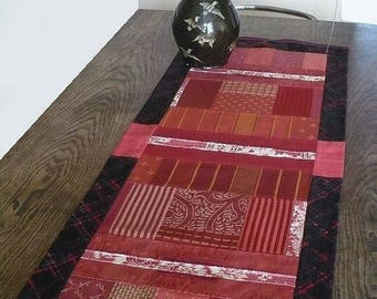"""The warmth of the Red"" wall hanging or table runner"