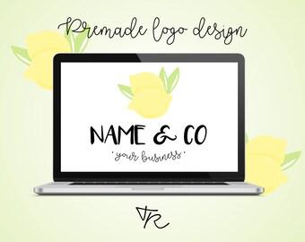 """Logo pré-fait à petit prix - """"Mon petit logo"""" - Thème citron"""