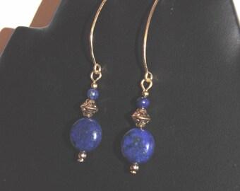 Lapis Lazuli antique inspired earrings