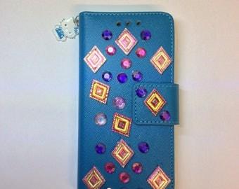 Blue Hello kitty Iphone Case