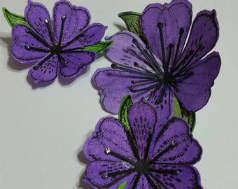 Paper Flowers Purple Lily 3 pk