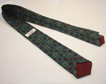 Diamond Print Skinny Tie - Handmade - 100% Recycled Material - One of a Kind!