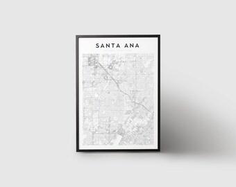 Santa Ana Map Print