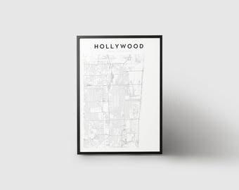 Hollywood Map Print