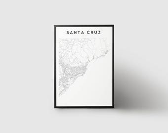 Santa Cruz Map Print