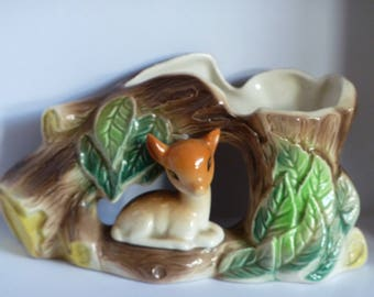 Vintage English HORNSEA Fauna Pottery Ceramic 1960's Deer Fawn Sylvac Style