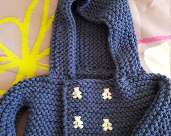 Jacket (jacket) birth to three months with hood
