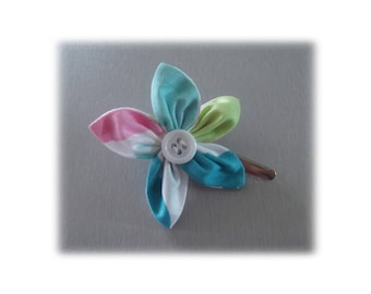 WATER BUBBLE FLOWER ALLIGATOR HAIR CLIP