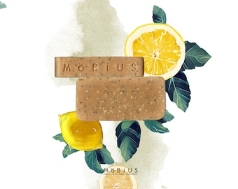 """SOAP shower care """"Lemon & poppy"""" Saponified cold and test to 9%."""