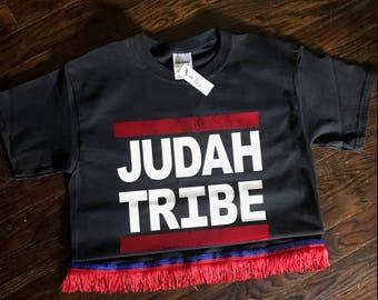 Judah Tribe T-Shirt with Fringe Options