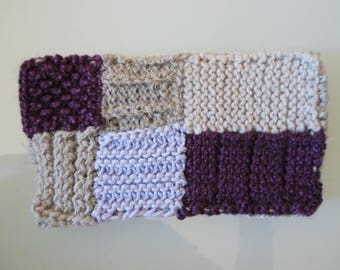 Protective case for cell phone, hand-woven style patch-work. Morados-grises ringtones