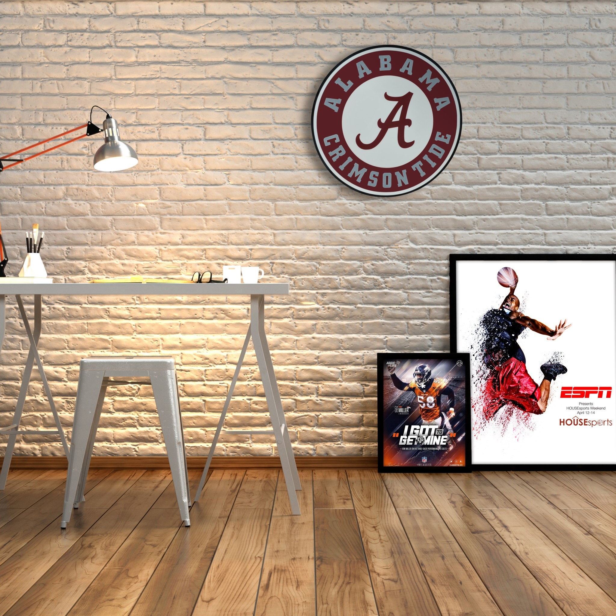Alabama Crimson Tide Decor|Wall Decor|Boy Room Decor|Boy Football Decor|