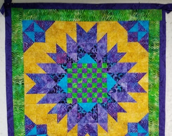 Picnic Quilt Includes Chess/Checkers Design