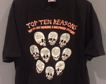 1992 glow in the dark Halloween shirt