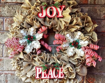 Christmas Wreath burlap