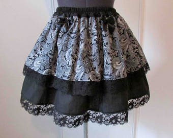 Gothic skirt with Baroque floral patterns