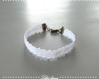 Fantasy style romantic white lace bracelet